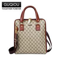 2014 Guccci men's business shoulder dual-use portable briefcase.