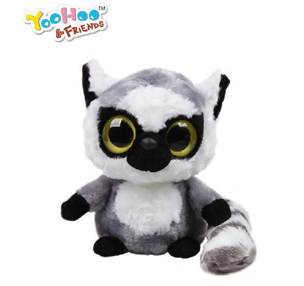 "2014 Korean New Baby Toy Yoohoo Friends Stuffed Plush Big Eyes Cute Anima Toy (grumpy lemur) - 5"" Lemmee learning & education(China (Mainland))"