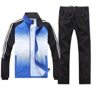 New 2014 Fashion leisure sports suit/sportswear for Man Men's tracksuit/ Leisure clothing set Multicolor optional size L-4XL