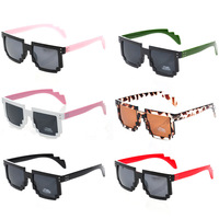 New Brand 2014 Pixelated Sunglasses For Men 8-Bit Glasses Female CPU Gamer Geek Designer Code Programmer Sunglasses Male