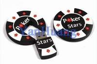 Poker stars usb flash drive 8GB 16GB 32GB pokerstars USB Flash Memory Stick Thumb/Car/Key/Pen Drives Free Shipping