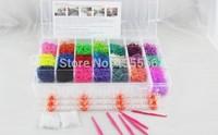 2014 Bracelet  Loom (50 S clips 50 pcs C-clips 6 hook over 2200 pcs Rubber Band +22 colors) Storage Kit