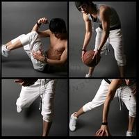 Fashion New Loose Casual Mens Harem Trousers Pants Dance Hiphop Sport Low-Rise Straight Cotton Pants man06