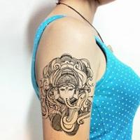 "Waterproof High Quality Temporary Tattoo Sticker "" Thai elephant god "" -15.3*22 cm"