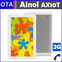 Original 10.1 inch Ainol AX10T Numy 3G MTK8312  Dual Core CPU 1GB RAM 8GB ROM Android 4.2 WCMDA Dual SIM Slots GPS FM Radio OTG