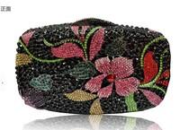 new arrival luxury handmade full diamond women clutch handbag flower mini bag formal dress party wedding ball