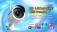 free shipping ESCAM Q6320 ONVIF 720P Mini IR-Bullet security Camera P2P 6MM FIXED LENS 1.0 Megapixel HD Network IR IP CAMERA