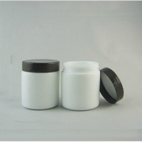 High quality  100G  white glass  Jar,cosmetic glass bottle,makeup  cream bottle with black cap  5pc/lot