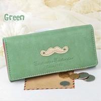 2014 Free Ship Vintage Beard Clutch Checkbook Change Bag Women's Purse Handbag Ladies Wallet