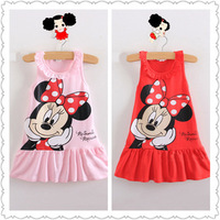 Free Shipping! New Arrival Girls Clothes Cute Dress For Kids 2 Colors Children Dresses Retail