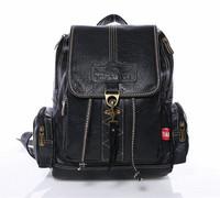 women backpack pu drawstring fringe shoulder bags college backpacks vintage bag
