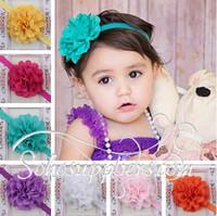 Baby Flower Headband Toddler Girl Headbands Head Wear  Baby Head Jewelry Hair Bands 12pcs free shipping TS-14053