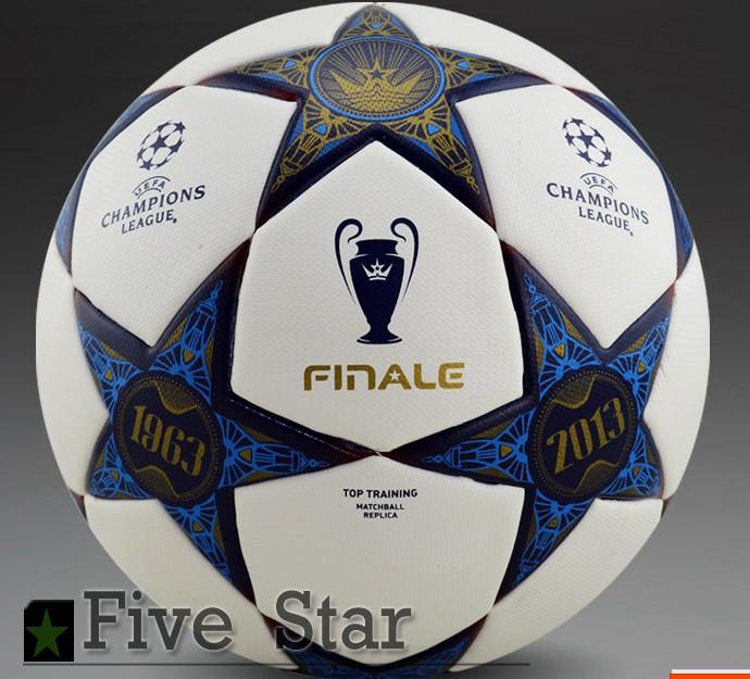 Top selling Free shipping Wembley champion league football Anti-slip Soccer ball PU material soccer ball size 5 ball for gift(China (Mainland))