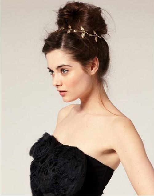 New fashion Lovely romantic olive leaves headband Women garland headwear girl Metallic hair accessories Free shipping Wholesale(China (Mainland))