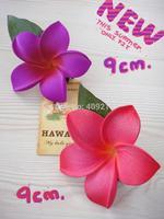 NEW ARRIVAL !  FREE SHIPPING+ 200PCS /LOT+ KL923  9CM   FOAM  PLUMERIA  HAIR PICK +12 COLORS +   HAWAIIAN FLOWER
