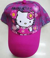 50pcs/lot ! 2014 hello kitty cap fashion cartoon visors for Girls kids sun hat A3288 on Sale Free Shipping
