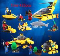 423pcs Octonauts undersea explorer compatible Building Block Set 3D Construction Brick Toys  Educational Block toy kit Children