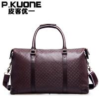 Leather travel bag male large capacity travel bag handbag luggage travel package commercial male handbag