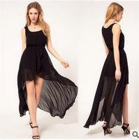 new 2014 European and American new dress chiffon vest dress veil