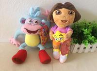 Free shipping 2pcs/set 25cm=9.8inch Stuffed Dora Plush toys Dora The Explorer Doll And Dora Friends Boots Monkey Plush Toys