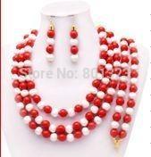 Free shipping !  Fashion Nigerian African   beads jewelry set