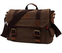 Men Messenger Bags Canvas Bag Genuine Leather Tote Sport Woman Canvas Messenger Bag Shoulder Strap School Bag 7031#70