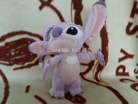 Free shipping 24cm Lilo and Stitch plush stuffed pink angel dolls children cation animal soft toys children birthday gift582