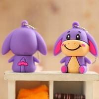 Wholesale New Cartoon Little Donkey USB Flash Drive 4GB/8GB/16GB/32GB Memory Stick USB2.0