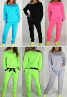 10 colors!autumn wear new style girl's sport clothes shampooers set shampooer suit women's sports set jogging tracksuit clothing