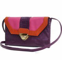 Multicolor color block decoration one shoulder small messenger bag color block one shoulder women's handbag