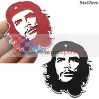20pcs Che Guevara Metal Red Black Sticker Car Badges Emblem