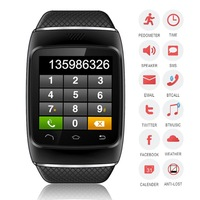 Smart  Bluetooth  Watch WristWatch Phone Mate Good assistant for SmartphoneBlack