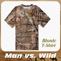 2014 summer Men  Camo outdoor fishing hunting wild survival quick-dry T-shirts short sleeve 4 size M,L,XL,XXL Free shiping