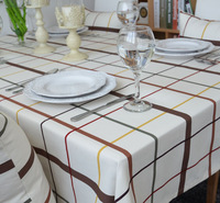 2014 summer new Nordic simple plaid cotton tablecloths dinning room decor table cloths wedding decor  luxury desk  table cloth