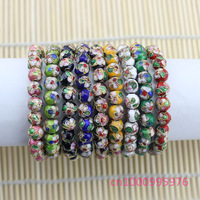 Free shipping!10 pcs cloisonne bead bracelet gift beautiful fashion,Round bead bracelet