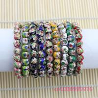 Free shipping!20 pcs cloisonne bead bracelet gift beautiful fashion,Round bead bracelet