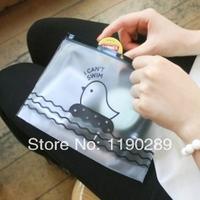 South Korea stationery creative cute chicks translucent pencil bag nice gift F499
