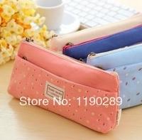 South Korea creative lovely large capacity double zipper pencil case fashion pencil bag nice gift C413