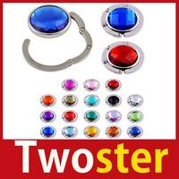 Twoster Fold Clear Crystal Bag Handbag Hanger Holder Purse Hook Save up to 50%