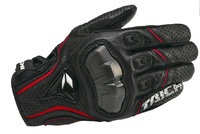 RS titanium rod glove leather motorcycle gloves in summer Off-road racing motorcycle gloves