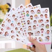 fashion sticker new Korea Creative cute cartoon girl Korea Momoi stickers cookies girl stickers nice gift C498(China (Mainland))
