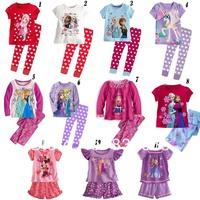 Frozen Pajama Kids Sets In Stock Dropshipping Sleepwear Girls Frozen Nightgown Frozen Clothing Sets For Princess Girls 8-12Years
