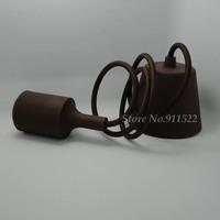 Free shipping High quality pendant light Coffee color e27 e26 Plastic lamp holder/110V 220V,cable length 1 meter