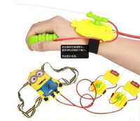 Summer Hot selling children's toys Despicable Me Daddy Thief Small yellow backpack water gun  Wrist spray    MH008