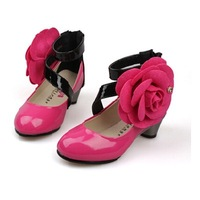 2014 spring and summer girls shoes female big boy leather princess single shoes child high-heeled shoes dance shoes