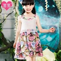 6-15 years Brand Summer Kids frozen princess elsa party vestidos Dresses baby girl clothes Casual Style Dresses Children QZ898
