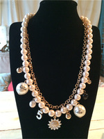 Coco 2014 series pearl necklace Women little daisy