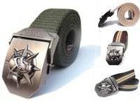 Skull Belt for Men Tactical Military Equipment Hip Belt Canvas Men's Ceinture Wide Strap Strong Buckle Free Shipping