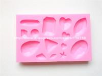 Free Shipping Diamond Shaped Silicone Mold Cake Decoration Fondant Cake 3D Food Grade Silicone Mould 078