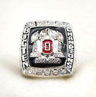 Free shipping rhodium  plated replica NCAA 2005 2006 2007 2008 big ten ohio state buckeyes Championship ring  for men